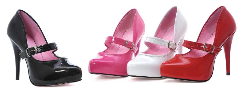 469-LADYJANE - Fuchsia - 4.5`` Mary Jane in High Heels and Platforms