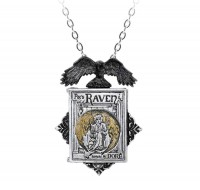 P897 - Poes Raven Locket Necklace