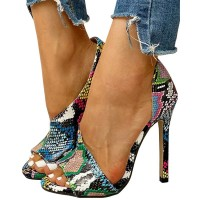 Ladies Party Stiletto Heels - Snake