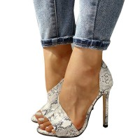 Ladies Party Stiletto Heels - White Snake