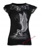 Chained Angel with Skulls Lady Tank Top
