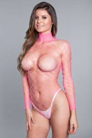 1909 Dance All Night Bodystocking Hot Pink