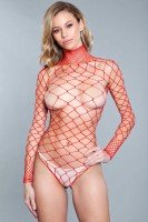 1909 Dance All Night Bodystocking Red