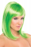 BW093GR Doll Wig Green