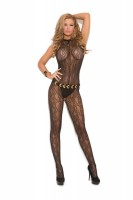 1602 Swirl Lace Halter Bodystocking