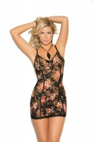 1973X - Lace Babydoll With Adjustable Straps, Satin Bow And Matching G String