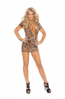8292 - Super Plunge Club Dress With Side Ruching