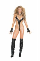 L2258 - Leather String Teddy Trimmed In Grommets