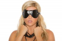 L9439 Leather Blindfold  With  D Ring
