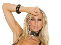 L9996 - Leather Choker With O Ring And D Ring