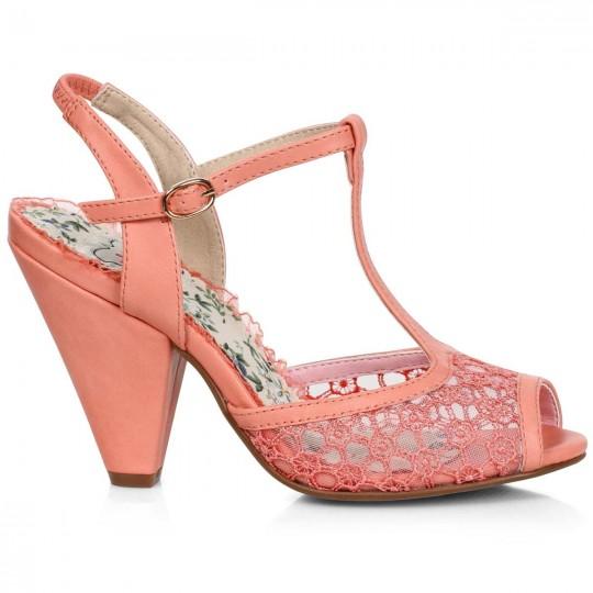 peach shoes heels