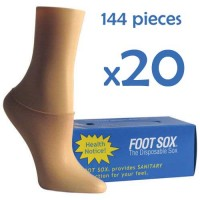 20 Boxes Beige Disposable Foot Sox - Try on Socks - Footies - Peds for Women