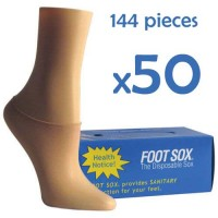 50 Boxes Beige Disposable Foot Sox - Try on Socks - Footies - Peds for Women