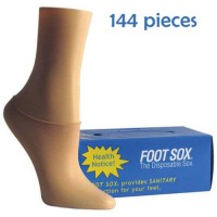1 Box Beige Disposable Foot Sox - Try on Socks - Footies - Peds for Women (SHIPS FREE IN USA)