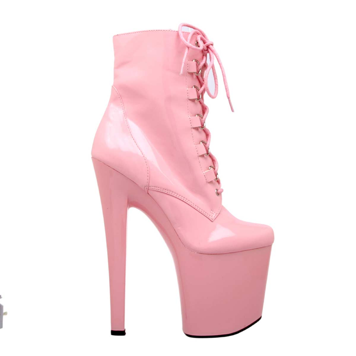 Highest Heel FANTASY-41 - Pink Patent PU in Boots - $88.99