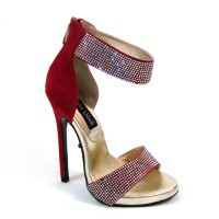 Sultry-21-sa - Red Suede Pu