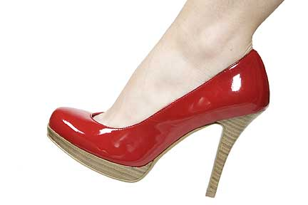 Hollywood Heels Evita SPECIAL - Rounded toe and open on one side,stacked heel & platform. in Specials