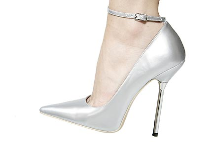 Hollywood Heels Poker SPECIAL - elegant and adjustable ankle strap to an already super-sexy pointed-toe pump with a 5 Inch  metal stiletto heel. in Specials