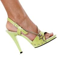 Karo Shoes 873 Lime Green Leather/Lime Green