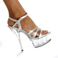 Karo Shoes 317 Clear-Silver/Clear