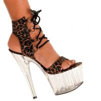Karo Shoes 0454-Leopard/Clear