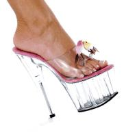 Karo Shoes 949 Clear-Hot Pink/Clear