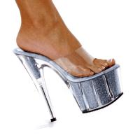 Karo Shoes 0969-7 Clear/Silver Glitter