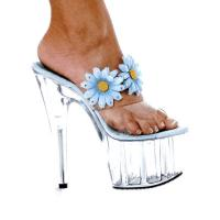 Karo Shoes 933 Clear/Baby Blue Flower