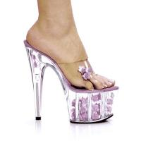 Karo Shoes 0555-7 Clear/Baby Pink Flower