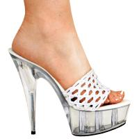 Karo Shoes Fall 10017-6 White Mesh/Clear