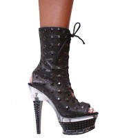 3359 Ankle Boots - Black Spiky Leather