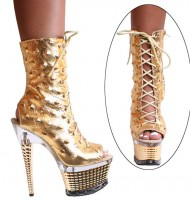 3359 Ankle Boots - Gold Spiky Leather