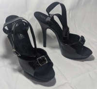Karo Shoes 0034 Black Patent on Black SPECIAL