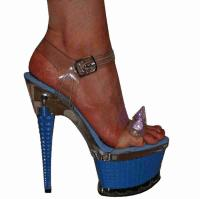 Karo Shoes 3258 - Clear with Blue Light, M. Blue