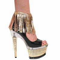 Karo Shoes 3315A/B - Gold & Black Leather