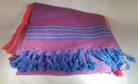 Kenya Kikoy Purple with Red and Blue Stripes