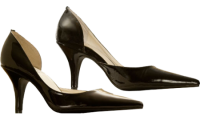 Le Dame Footwear Simone Black Patent in Mens Sizes