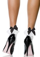 Stocking Bow and Lace Ruffle