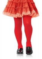 Girls Opaque Tights 4 6 Red 4