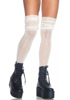 Acrylic Pointelle Over The Knee Scrunch Sock
