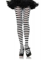 Plus Size Striped Tights