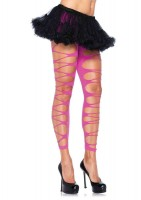 Footless Contrast Shredded Tights