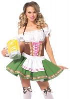 2 Piece Gretchen Incl Dress With Trim & Stockings With Bows