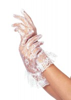 Lace Wrist Lengh Ruffle Gloves(dz. Pack Only)