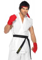 5 Piece Ryu Includes Shirt Pants Belt Gloves And Head Band
