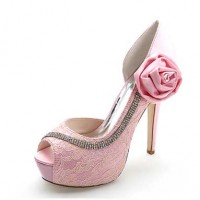 Crystal Sequined Wedding Glitter Jeweled Stilettos - Pink