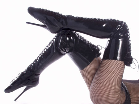 Devious Ballet-3020 SPECIAL - 7 Inch  SPIKE HEEL BALLET THIGH BOOT in Specials