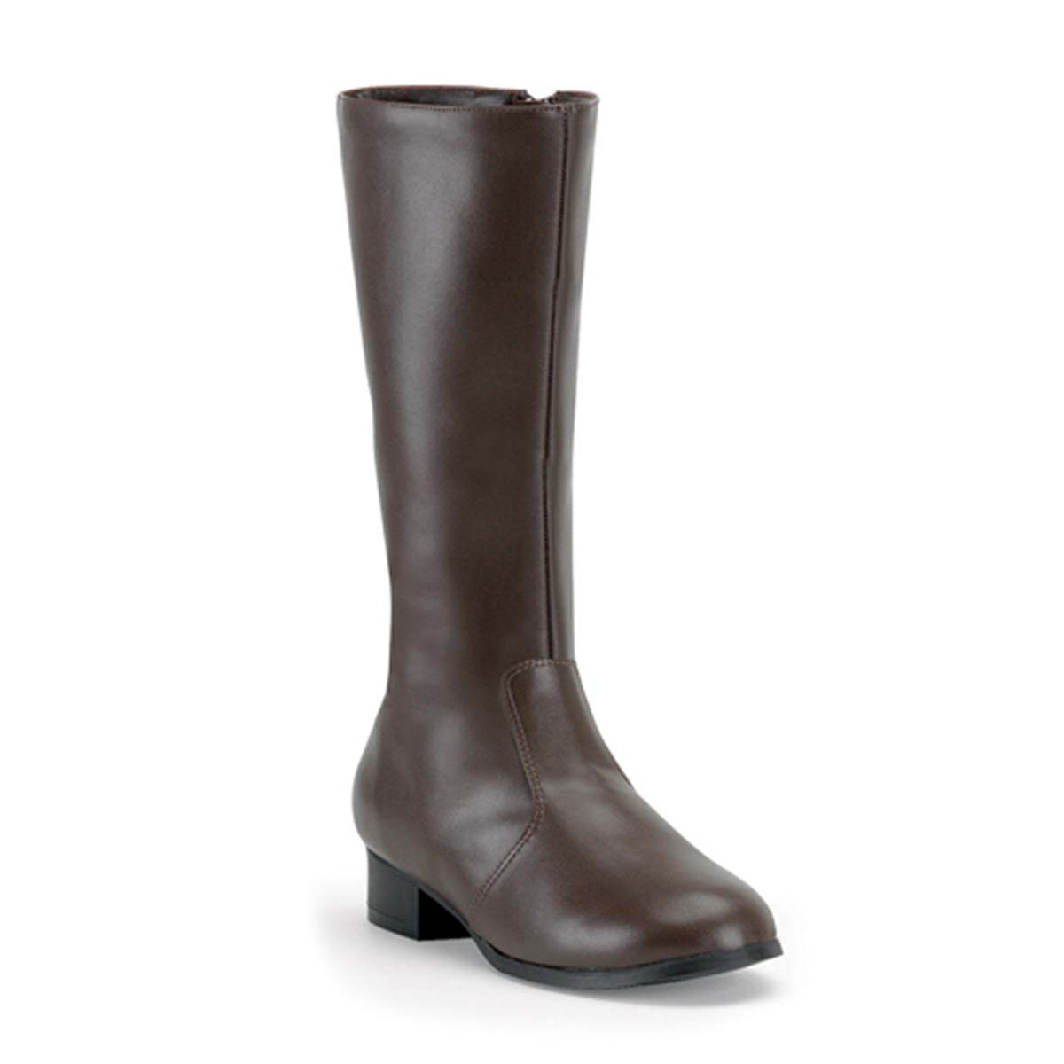 Funtasma Captain-180 - Brown Pu - CAPTAIN-180, CHILDREN BROWN BOOTBoots Children 1 Inch  HeelFit Guide: TRUE TO SIZE in Knee High Boots - Single Sole