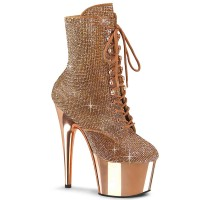 Adore-1020CHRS - Rose Gold Rhinestones Chrome