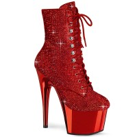 Adore-1020CHRS - Red Rhinestones Chrome